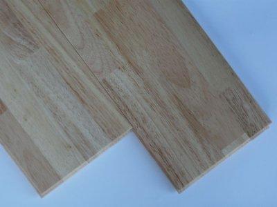 画像1: ゴム(ラバーウッド)無垢フローリングUNI・ウレタン・クリア塗装1820×90×15