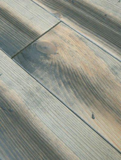 画像1: マリティムパイン無垢フローリングOPC・アンティーク・グレイ 2000×140×20