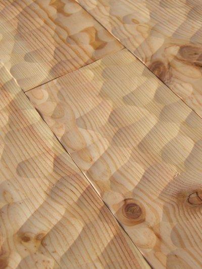 画像2: マリティムパイン無垢フローリングOPC・無塗装スプーンカット 2000×140×20