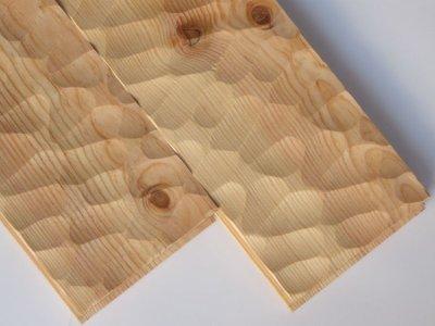 画像1: マリティムパイン無垢フローリングOPC・無塗装スプーンカット 2000×140×20