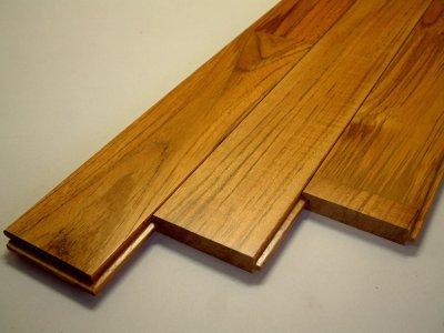 画像1: チーク無垢フローリング床暖房用UNI・ウレタン塗装1818×75×15