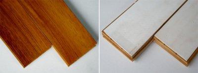画像1: チーク無垢フローリング1P(OPC)直貼タイプ・ウレタン塗装606×75×15