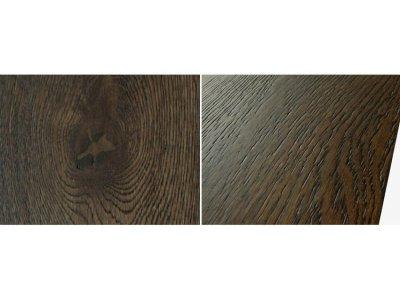 画像3: ナラ三層 フローリング ウレタンブラック色・ブラッシング 低温床暖房対応 ウレタン塗装 1820(MIX)×150×15