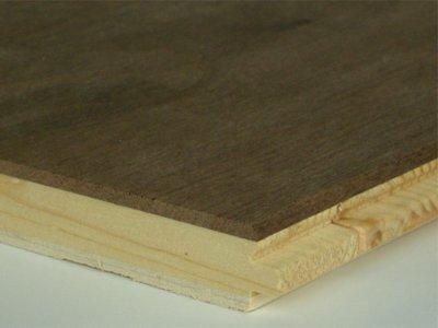 画像1: アメリカンブラックウォールナット三層フローリングSグレード 低温床暖対応 ウレタン塗装 1818×150×15