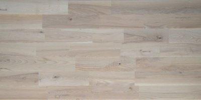 画像3: ホワイトアッシュ幅広無垢フローリングUNI・Nグレード無塗装1820×130×15