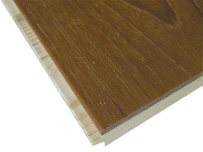 画像1: ミャンマーチーク三層フローリング 自然塗料塗装・低温床暖房対応 1820×150×15