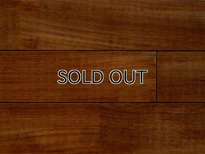 画像1: ミャンマーチーク無垢フローリング床暖房対応UNI・自然塗料塗装1820×90×15 (1)