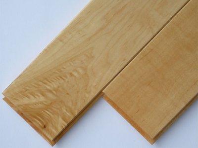 画像1: メープル無垢フローリングUNI・床暖房用・ウレタン塗装1818×75×15