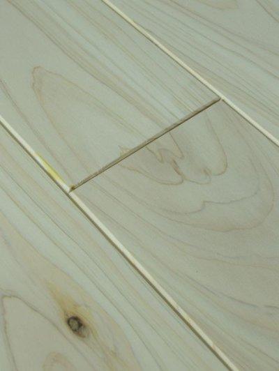 画像2: 桧無垢フローリング床暖房用 上小節  無塗装 1818×105×15