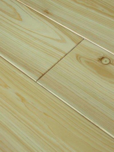 画像2: 桧無垢フローリング床暖房用 上小節  ウレタン塗装クリア 1818×105×15