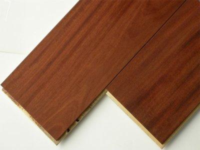 画像1: 複合フローリング マホガニー 床暖房対応 自然塗料塗装 乱尺×125×14