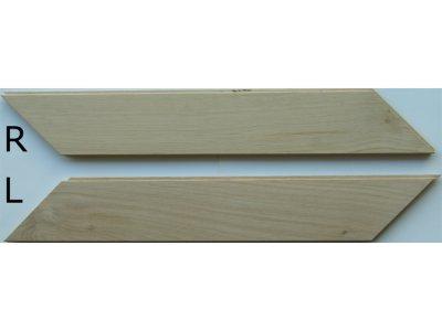 画像2: オーク無垢フローリング・フレンチヘリンボーン貼り用・無塗装 540×90×15