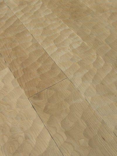 画像1: ナラ幅広無垢フローリングUNI・Sグレード スプーンカット 無塗装 1820×120×15