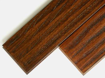 画像1: ケヤキ無垢フローリングUNIアンテーク・ウレタン塗装ダークブラウン色1820×120×15