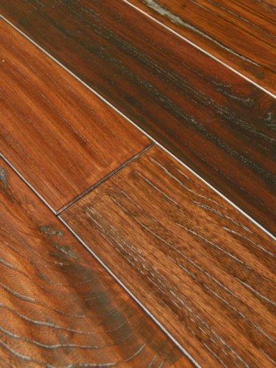 画像2: ケヤキ無垢フローリングUNIアンテーク・ウレタン塗装ダークブラウン色1820×120×15