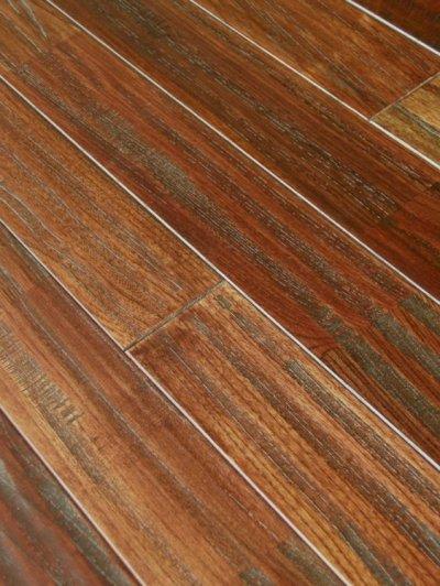 画像2: ケヤキ無垢フローリングUNIアンテーク・ウレタン塗装ダークブラウン色1820×90×15