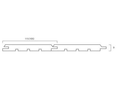 画像1: アガチス・パネリング無塗装 Aグレード 1950×105×9 (1.638m2)