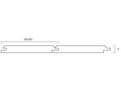 画像1: マルティムパイン・パネリング無塗装 Nグレード 2000×90×9 (2.52m2)