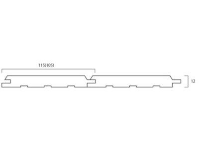 画像1: 柳杉パネリング無塗装 Nグレード 1950×105×12 (3.276m2)