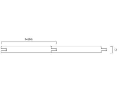 画像1: ウエスタンレッドシダー・パネリング無塗装 MIXカラー 1830×88×12 (1.601m2)