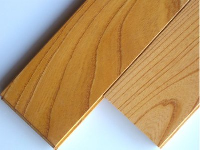 画像1: ケヤキ無垢フローリング床暖房用UNI・ウレタン塗装1818×75×15