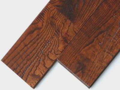 画像1: 栗アンティーク・無垢フローリング幅広・ウレタン塗装 ブラウン色1820×120×15