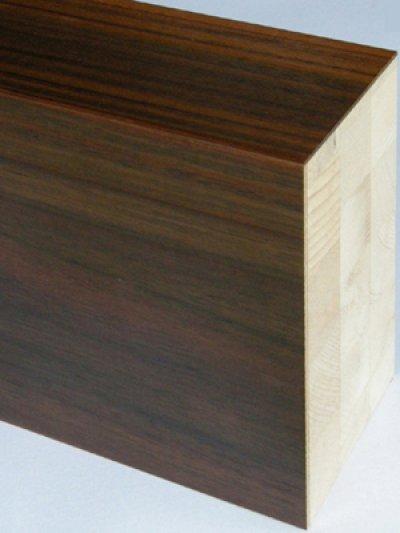 画像2: 突板貼付框 ローズウッド ウレタン塗装 1950×150×30