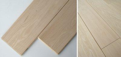 画像1: ナラ三層フローリングSグレード 低温床暖房対応 無塗装1818×150×15