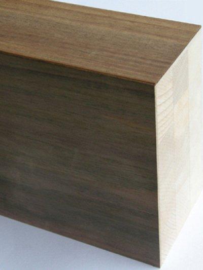画像2: 突板貼付框 ローズウッド 無塗装 2950×150×90