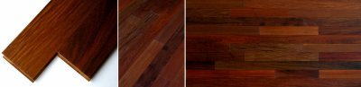 画像1: イペ無垢フローリング乱尺・自然塗料塗装 乱尺×90×15
