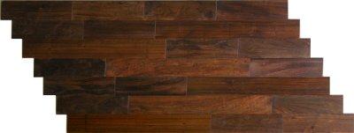 画像2: アジアンウォールナット無垢フローリング乱尺・自然塗料塗装 乱尺×120×15
