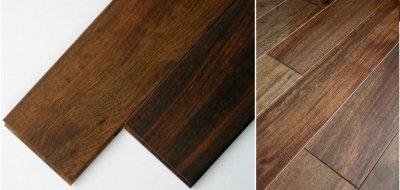 画像1: アジアンウォールナット無垢フローリング乱尺・自然塗料塗装 乱尺×120×15