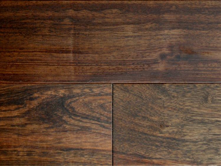 画像1: アジアンウォールナット無垢フローリングOPC・自然塗料塗装 1820×120×15 (1)