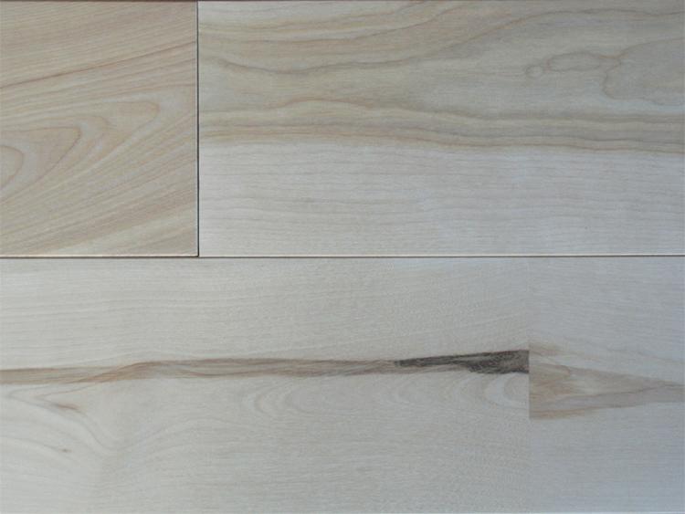 画像1: 東北カバ無垢フローリング幅広UNI・源平 無塗装1820×130×15 (1)