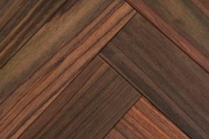 画像1: ローズウッド無垢フローリング・ヘリンボーン貼り用・無塗装 420×60×15 (1)