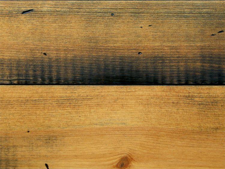 画像1: マリティムパイン無垢フローリングOPC・アンティーク・セピア 2000×140×20 (1)