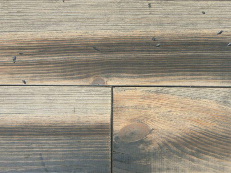 画像1: マリティムパイン無垢フローリングOPC・アンティーク・グレイ 2000×140×20 (1)