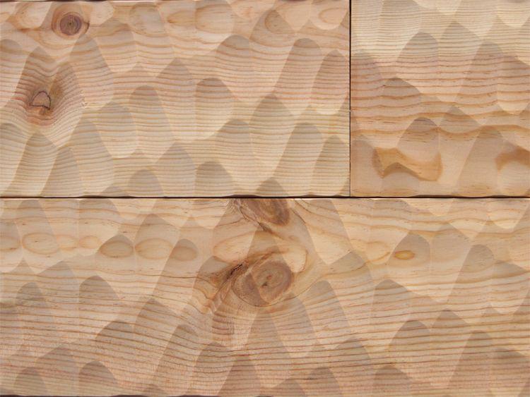 画像1: マリティムパイン無垢フローリングOPC・無塗装スプーンカット 2000×140×20 (1)