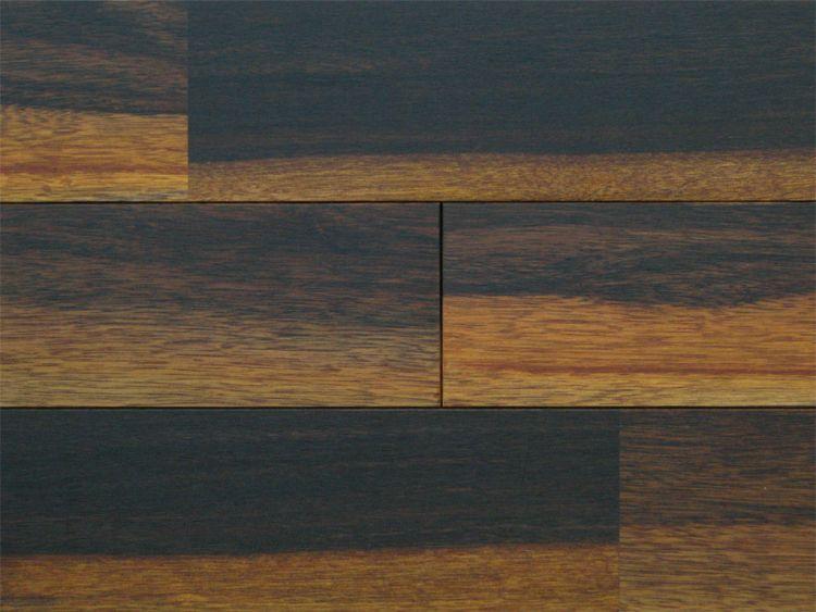 画像1: アジアンウォールナット無垢フローリングOPC・源平・自然塗料塗装 910×90×15 (1)