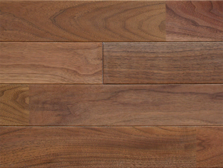 画像1: アメリカンブラックウォールナット無垢フローリング床暖房用UNI・ウレタン塗装1818×75×15 (1)