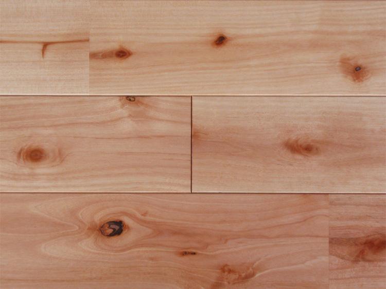 画像1: 西南桜無垢フローリングUNI・【節有】ウレタン塗装 1820×90×15 (1)