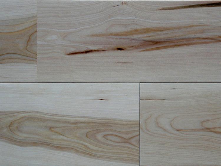 画像1: 東北カバ無垢フローリング幅広UNI・源平-自然塗料塗装1820×130×15 (1)
