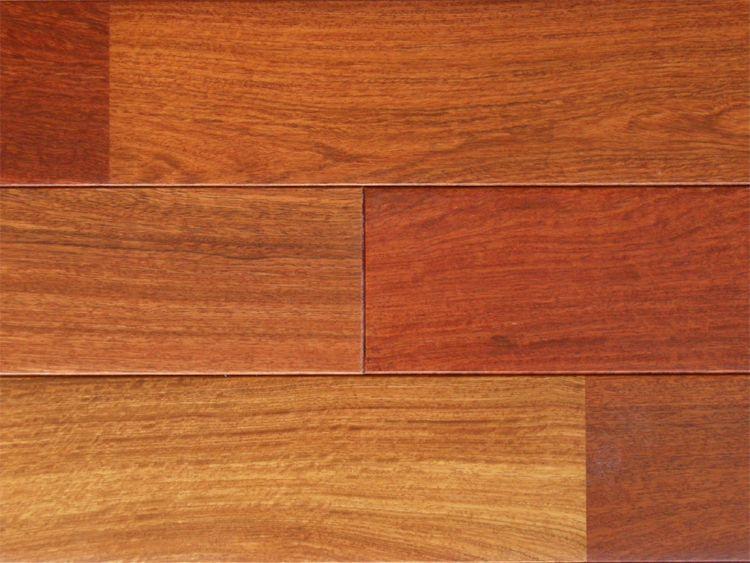 画像1: カリン無垢フローリングUNI・ウレタン塗装1820×90×15 (1)