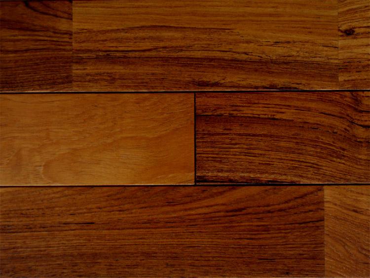 画像1: ミャンマーチーク無垢フローリングUNI・自然塗料塗装1820×90×15 (1)