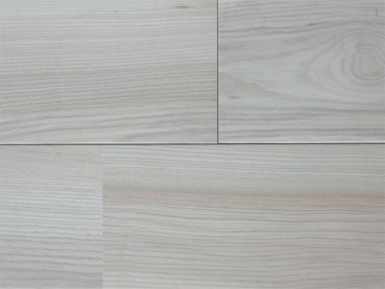 画像1: ホワイトアッシュ幅広無垢フローリングUNI・Sグレード無塗装1820×130×15 (1)
