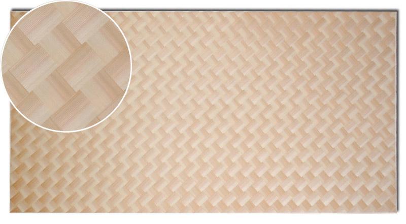 画像1: 秋田杉ハス市松網代(源平・赤白)1820×910×2.4(0.3) (1)
