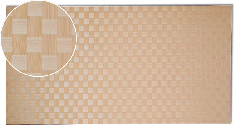 画像1: 秋田杉市松網代(赤・直角)1820×910×2.4(0.3) (1)