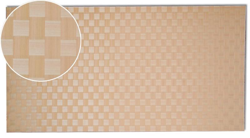 画像1: 秋田杉市松網代(赤・直角)カットサンプル (1)