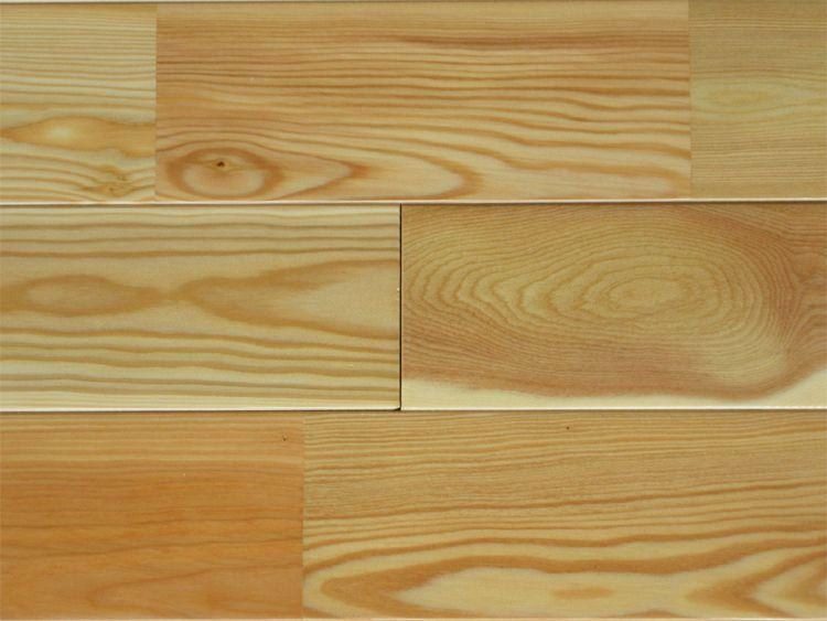 画像1: カラマツ無垢フローリング・床暖房用・UNI・Sグレード・ウレタン塗装1820×90×15 (1)