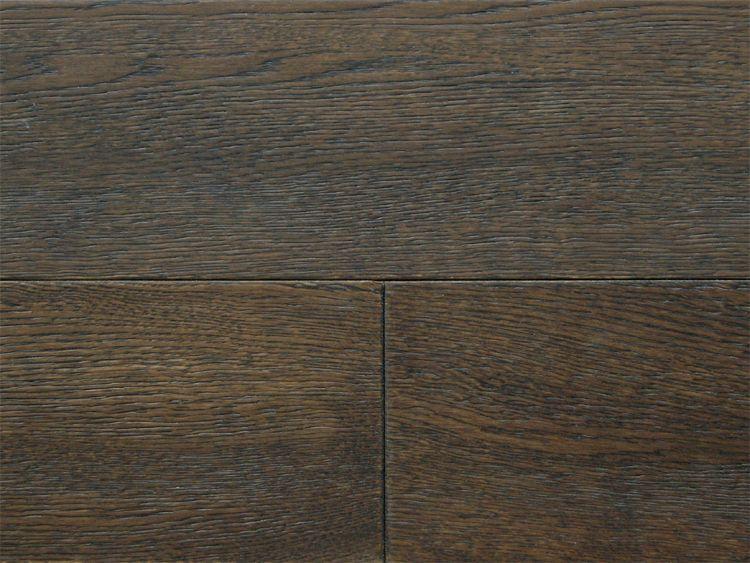 画像1: ナラ三層 フローリング ウレタンブラック色・ブラッシング 低温床暖房対応 ウレタン塗装 1820(MIX)×150×15 (1)